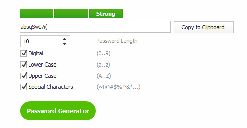 Wise Care 365 Password Generator