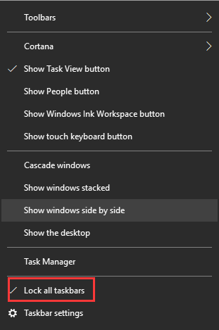 taskbar windows 10