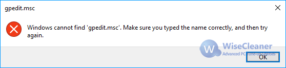 Windows cannot find gpedit.msc