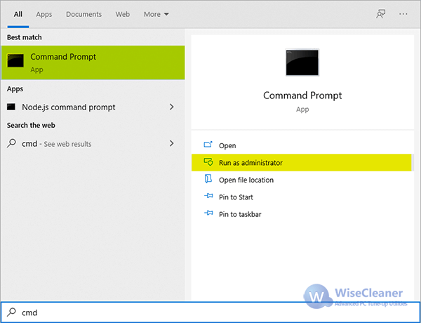 search Command Prompt
