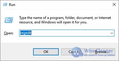 WiseCleaner Run window