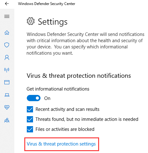 cant turn off windows defender windows 10