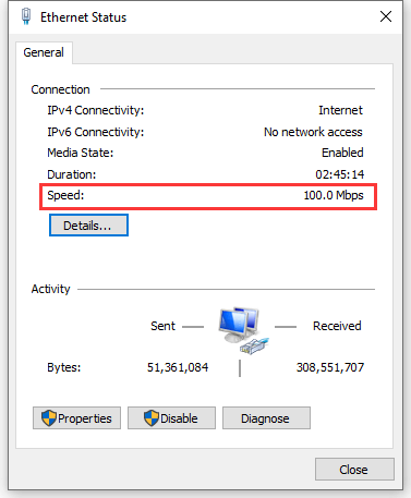 How to determine whether the network adapter is Gigabit Ethernet