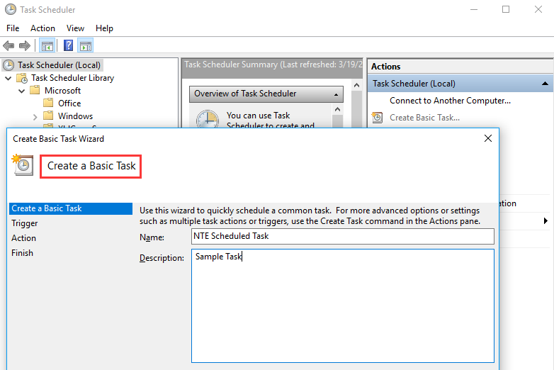 How to Create and Manage a Basic Task in Windows 10
