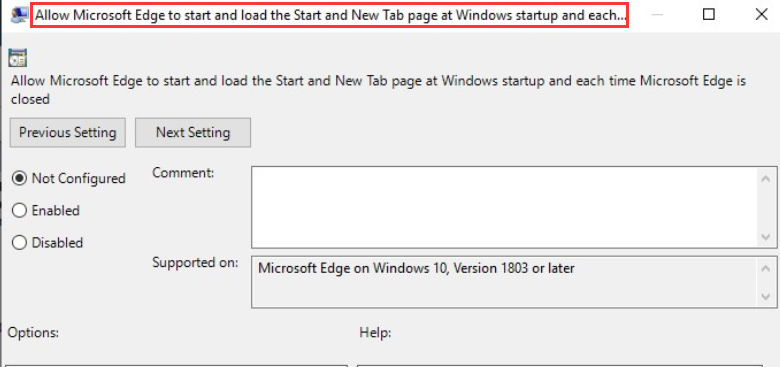 How to Disable Microsoft Edge Pre-launching in Windows 10